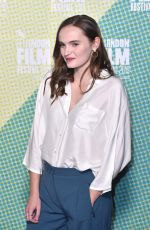 ABIGAIL LAWRIE at Our Ladies Premiere at BFI London Film Festival 10/04/2019