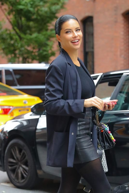 ADRIANA LIMA Leaves a Photoshoot in New York 10/17/2019