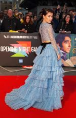 AIMEE KELLY at The Personal History of David Copperfield Premiere at 63rd BFI London Film Festival 10/02/2019