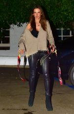 ALESSANDRA AMBROSIO Out for Dinner in Santa Monica 10/18/2019