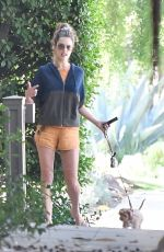 ALESSANDRA AMBROSIO Out with Her Dog in Brentwood 10/05/2019