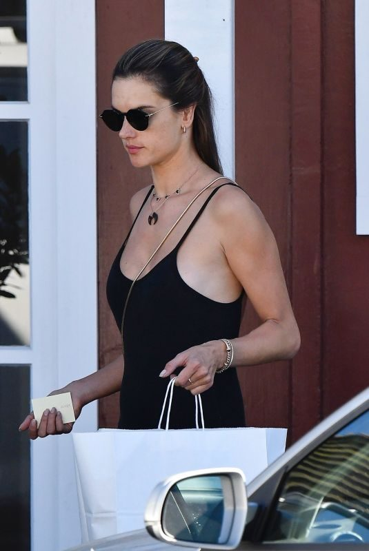 ALESSANDRA AMBROSIO Shopping at Brentwood Country Mart 10/26/2019