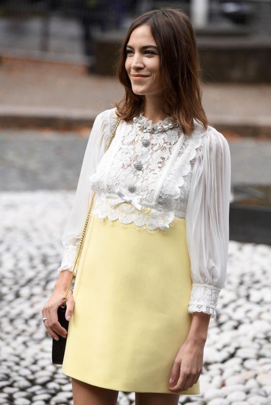 ALEXA CHUNG at Miu Miu Spring/Summer 2020 Show at Paris Fashion Week 10/01/2019