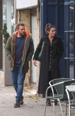 ALISON KING and David Stuckley Out in Alderley Edge in Cheshire 10/24/2019