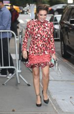 ALYSSA MILANO Arrives at The View in New York 10/16/2019