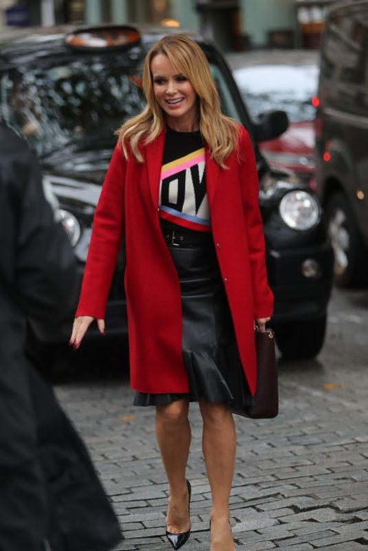 AMANDA HOLDEN Leaves Heart Radio in London 10/16/2019