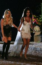 AMBER TURNER on the Set of TOWIE Halloween Special 10/21/2019