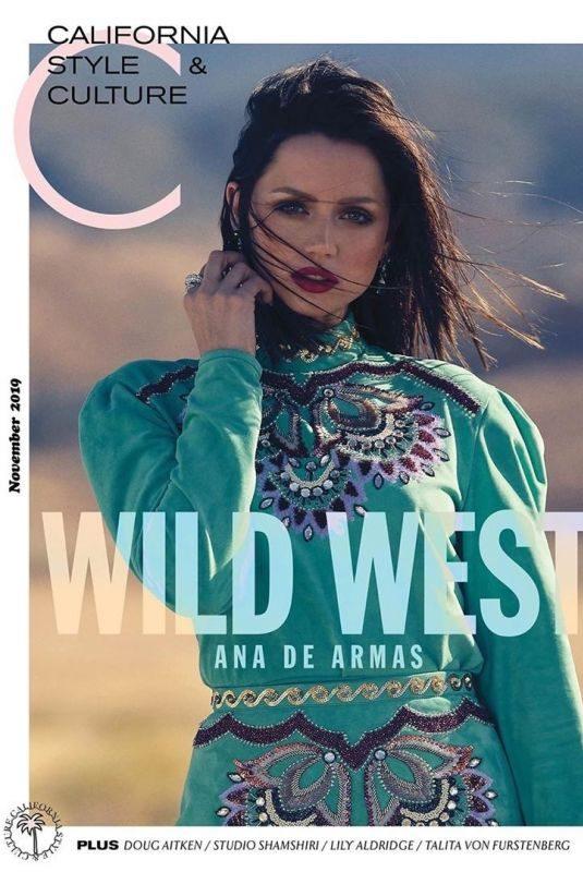 ANA DE ARMAS in California Style & Culture Magazine, November 2019