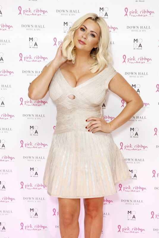 aNICOLE MCLEAN at Fundraising Fashion Show at Down Hall Hotel and Spa 10/07/2019