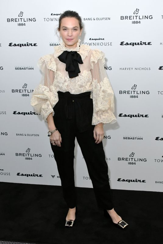 ANNA BREWSTER at Esquire Townhouse with Breitling Launch in London 10/16/2019
