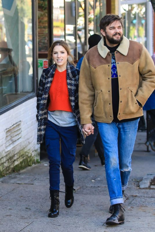 ANNA KENDRICK and Nick Thuneon the Set of Love Life in New York 10/15/2019