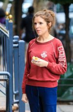 ANNA KENDRICK on the Set of Love Life at Mud Cafe in New York 10/07/2019