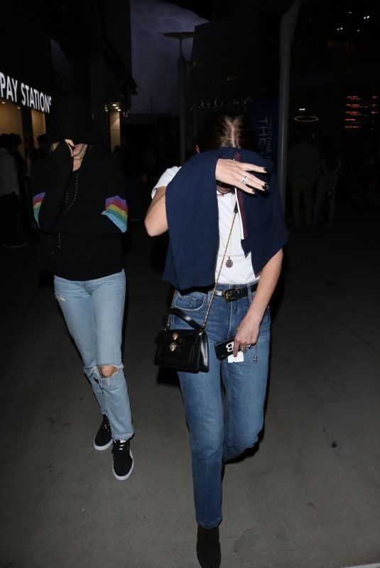 ASHLEY BENSON and CARA DELEVINGNE Night Out in Hollywood 10/11/2019