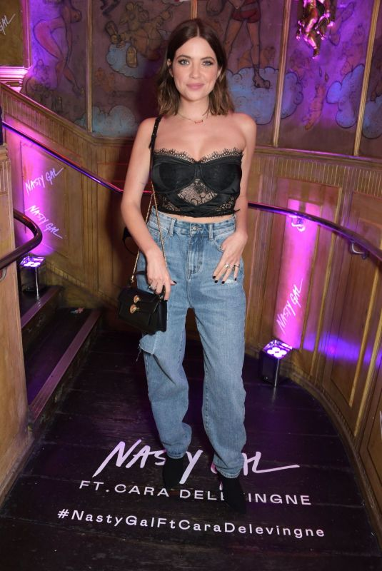 ASHLEY BENSON at Nasty Gal ft. Cara Delevingne Launch in London 10/22/2019
