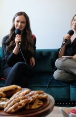 BAILEE MADISON and OLIVIA SANABIA at Just Between Us Podcast 10/28/2019