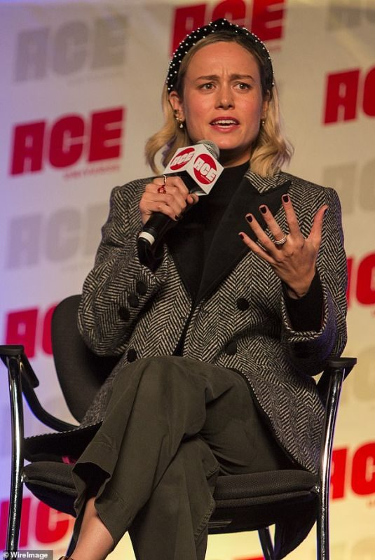 BRIE LARSON at Ace Comic Con in Rosemont 10/12/2019