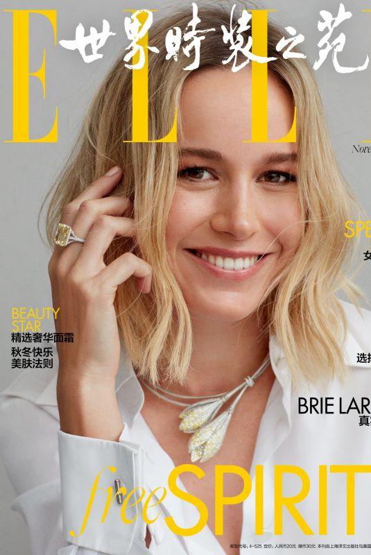 BRIE LARSON in Elle Magazine, China November 2019