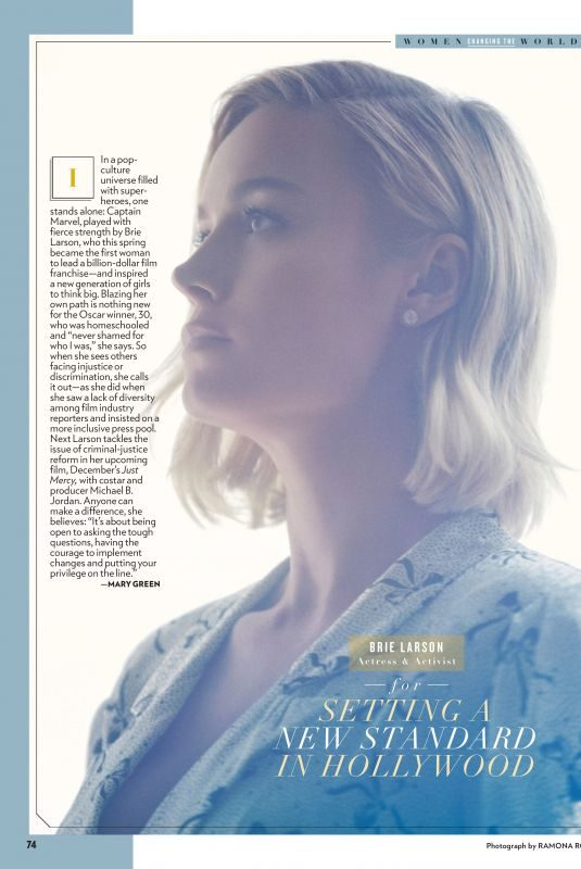 BRIE LARSON in People Magazine, October 2019