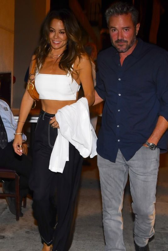 BROOKE BURKE at Craig's Restaurant in West Hollywood 10/23/2019