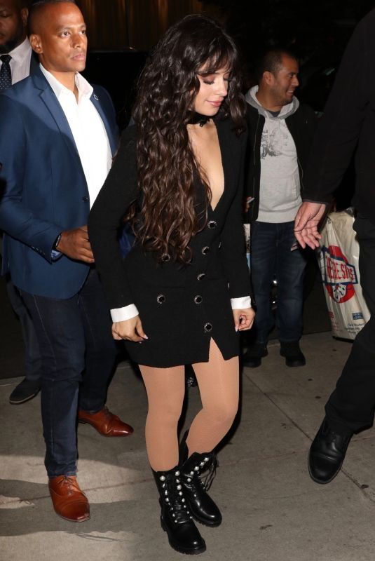 CAMILA CABELLO Arrives at SNL After-party in New York 10/12/2019