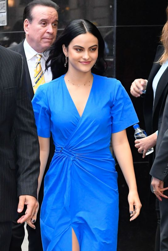CAMILA MENDES Arrives at Good Morning America in New York 10/14/2019
