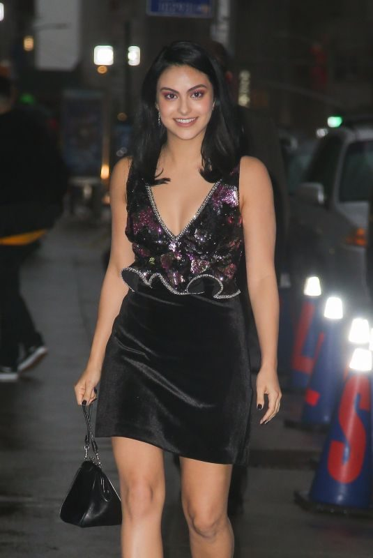 CAMILA MENDES Arrives at Late Show with Stephen Colbert in New York 10/22/2019