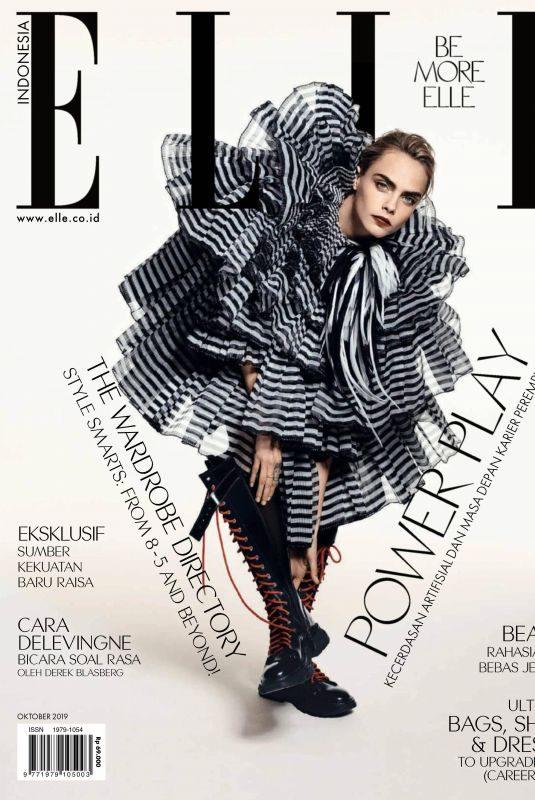 CARA DELEVINGNE in Elle Magazine, Indonesia October 2019