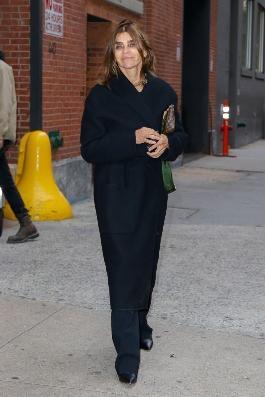 CARINE ROITFELD Leaves Studio in New York 10/26/2019