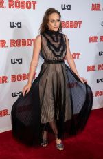 CARLY CHAIKIN at Mr. Robot, Final Season Premiere in New York 10/01/2019