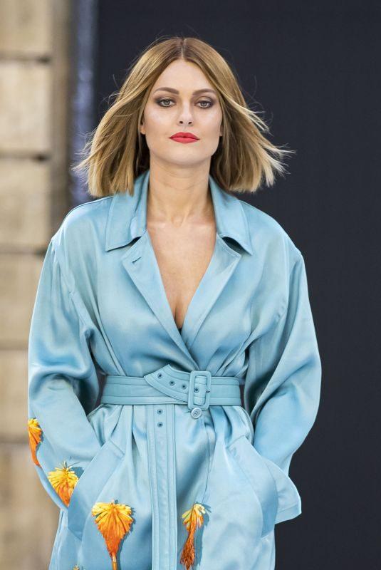CAROLINE RECEVEUR at Le Defile L'Oreal Paris Show at Paris Fashion Week 09/28/2019