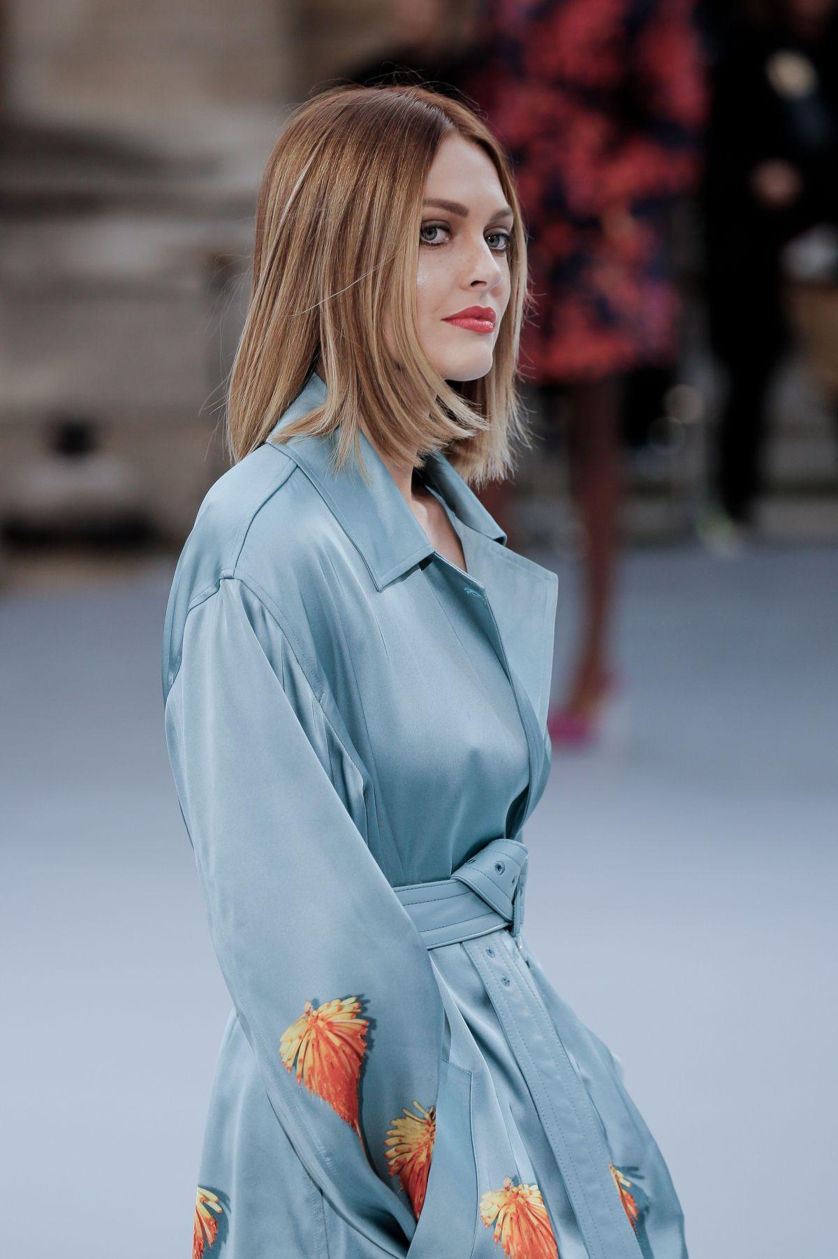 CAROLINE RECEVEUR at Le Defile L'Oreal Paris Show at Paris