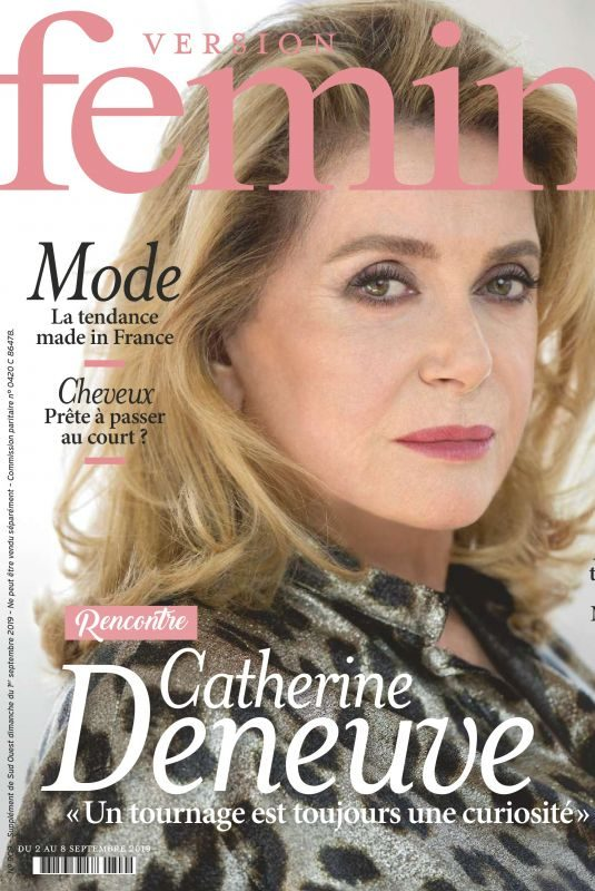 CATHERINE DENEUVE in Version Femina Magazine, September 2019