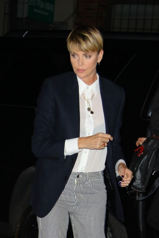 CHARLIZE THERON Arrives Bombshell Screening in New York 10/19/2019