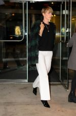 CHARLIZE THERON Out and About in New York 10/20/2019