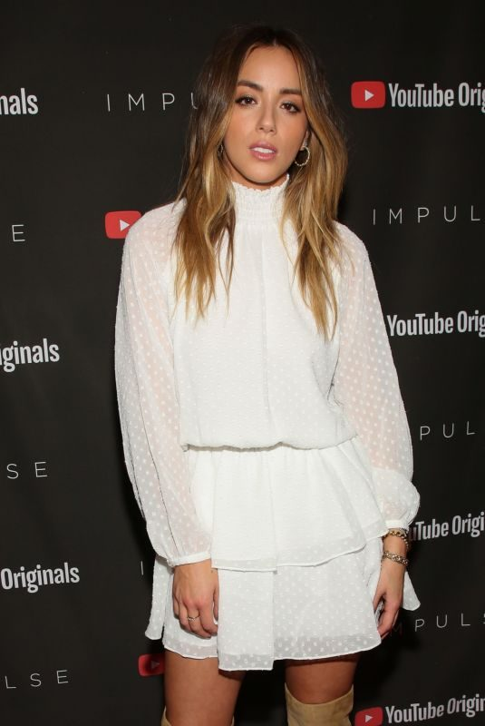 CHLOE BENNET at Youtube Originals Hosts Impulse, Season 2 Special Screening in West Hollywood 10/15/2019