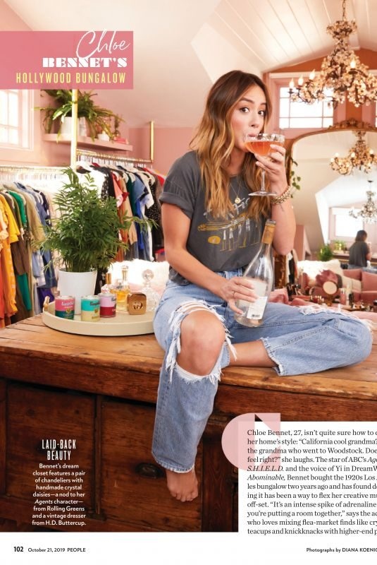 CHLOE BENNET in People Magazine, October 2019