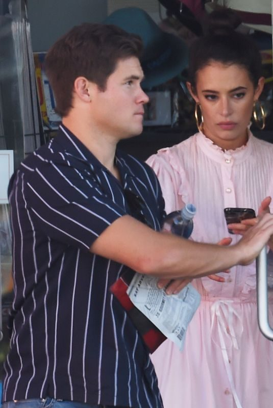 CHLOE BRIDGES and Adam Devine at a Gas Station in Hollywood 10/26/2019
