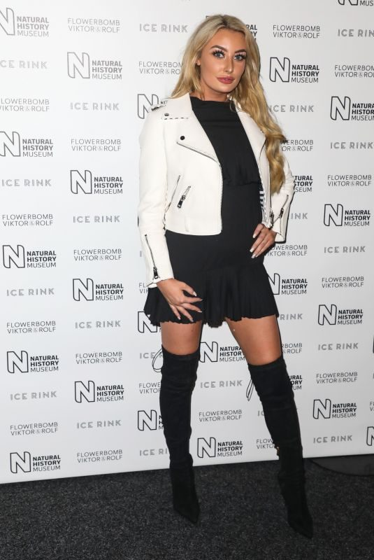 CHLOE CROWHURST at Natural History Museum Ice Rink Launch Party in London 10/22/2019