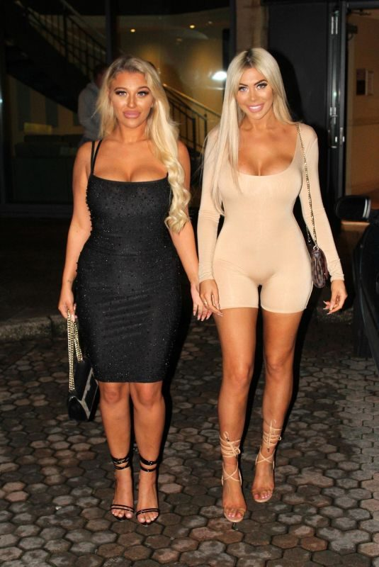 CHLOE FERRY and BETHAN KERSHAW Night Out in London 10/17/2019