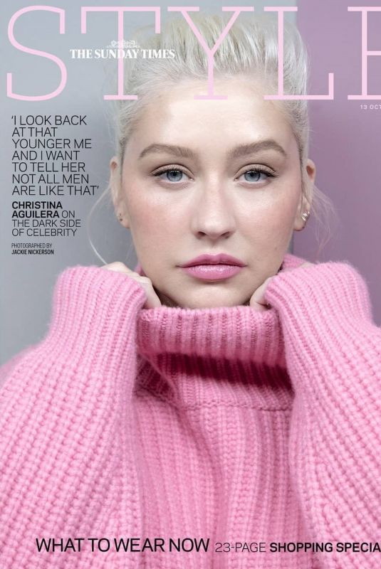 CHRISTINA AGUILERA in The Sunday Times Style Magazine, October 2019