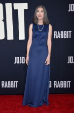 CHRISTINE LEUNENS at Jojo Rabbit Premiere in Los Angeles 10/15/2019