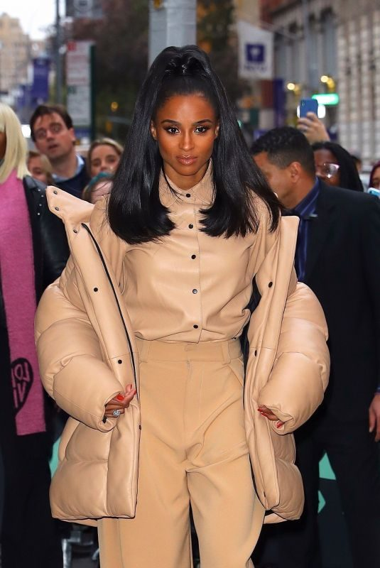 CIARA Arrives at Build Series in New York 10/30/2019