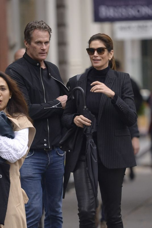 CINDY CRAWFORD and Rande Gerber Out Shopping in New York 10/30/2019