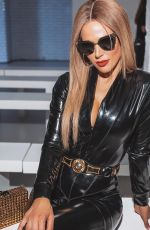 CJ LANA PERRY in Black Leather - Instagram Photos 01/30/2019