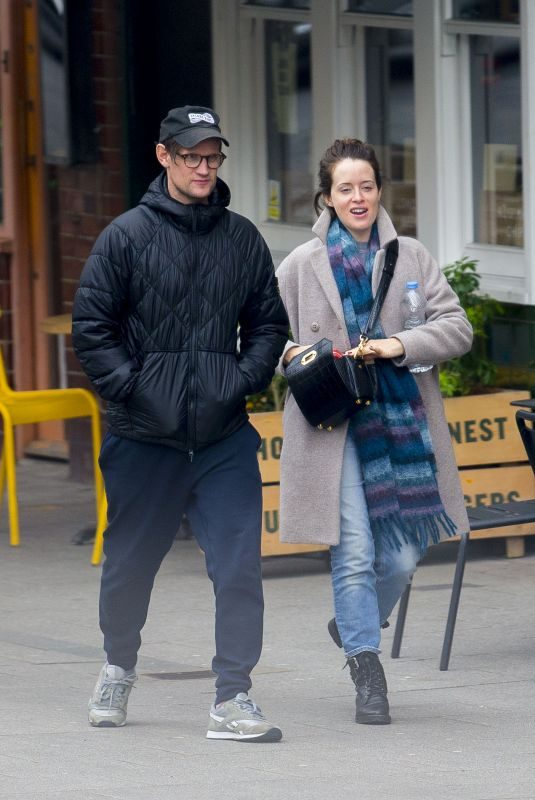 CLAIRE FOY and Matt Smith Out for Lunch in London 10/05/2019