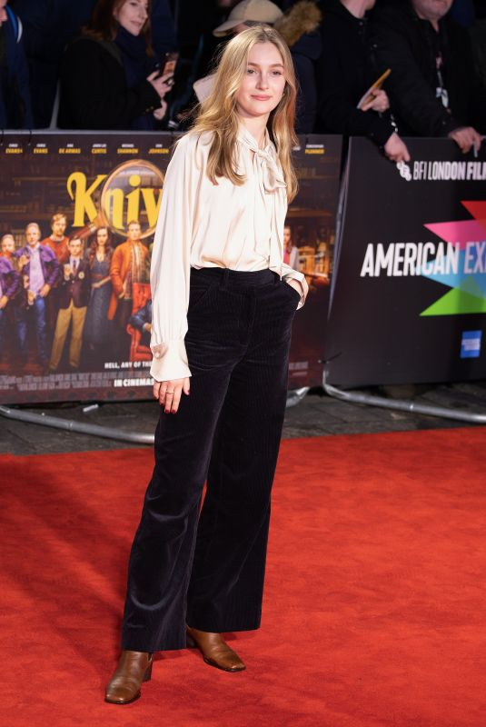CLAUDE SCOTT-MITCHELL at Knives Out Premiere at BFI London Film Festival 10/08/2019