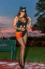 CLAUDIA ROMANI Ready for Hallowen at Miami Beach 10/29/2019