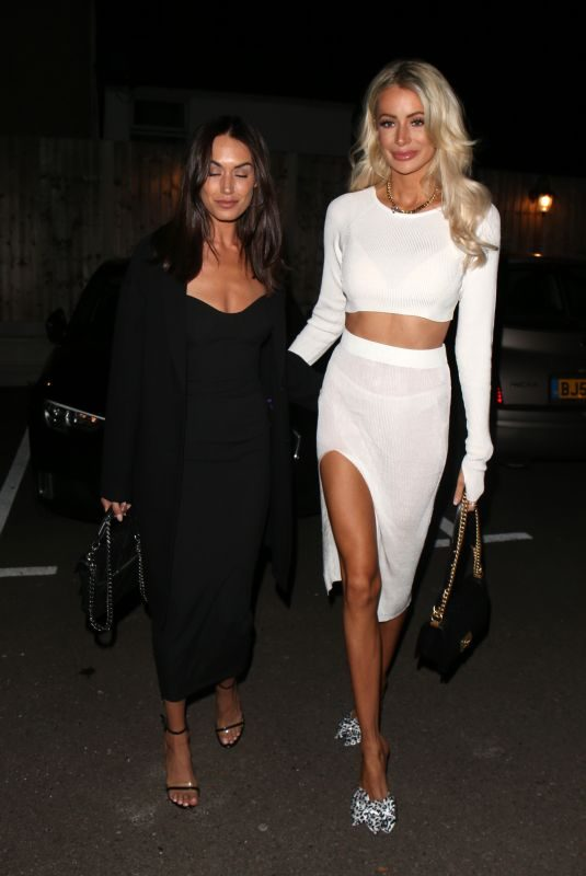 CLELIA THEODOROU and OLIVIA ATTWOOD at TOWIE Set in Essex 10/02/2019