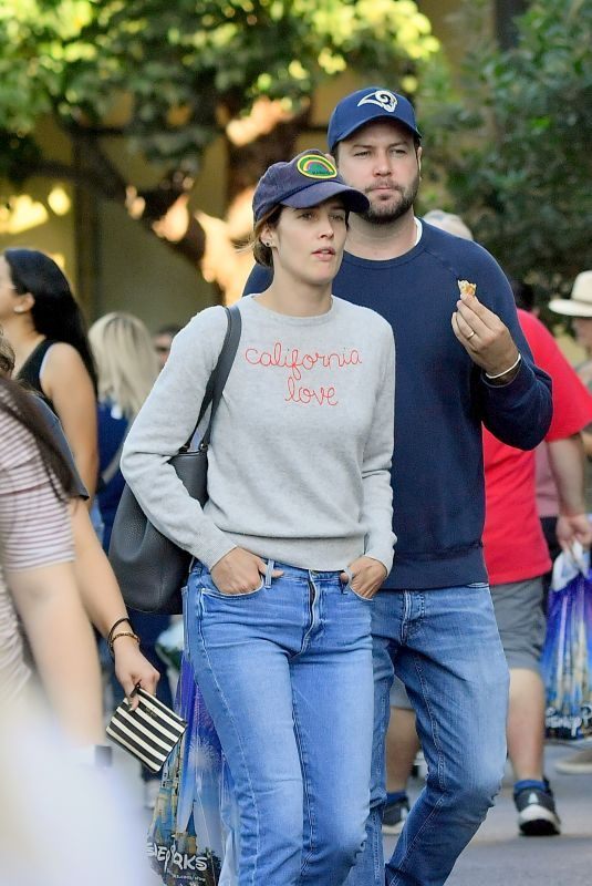 COBIE SMULDERS and Taran Killam Out at Disneyland 10/14/2019