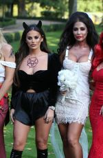 COURTNEY GREEN on the Set of TOWIE Halloween Special 10/21/2019